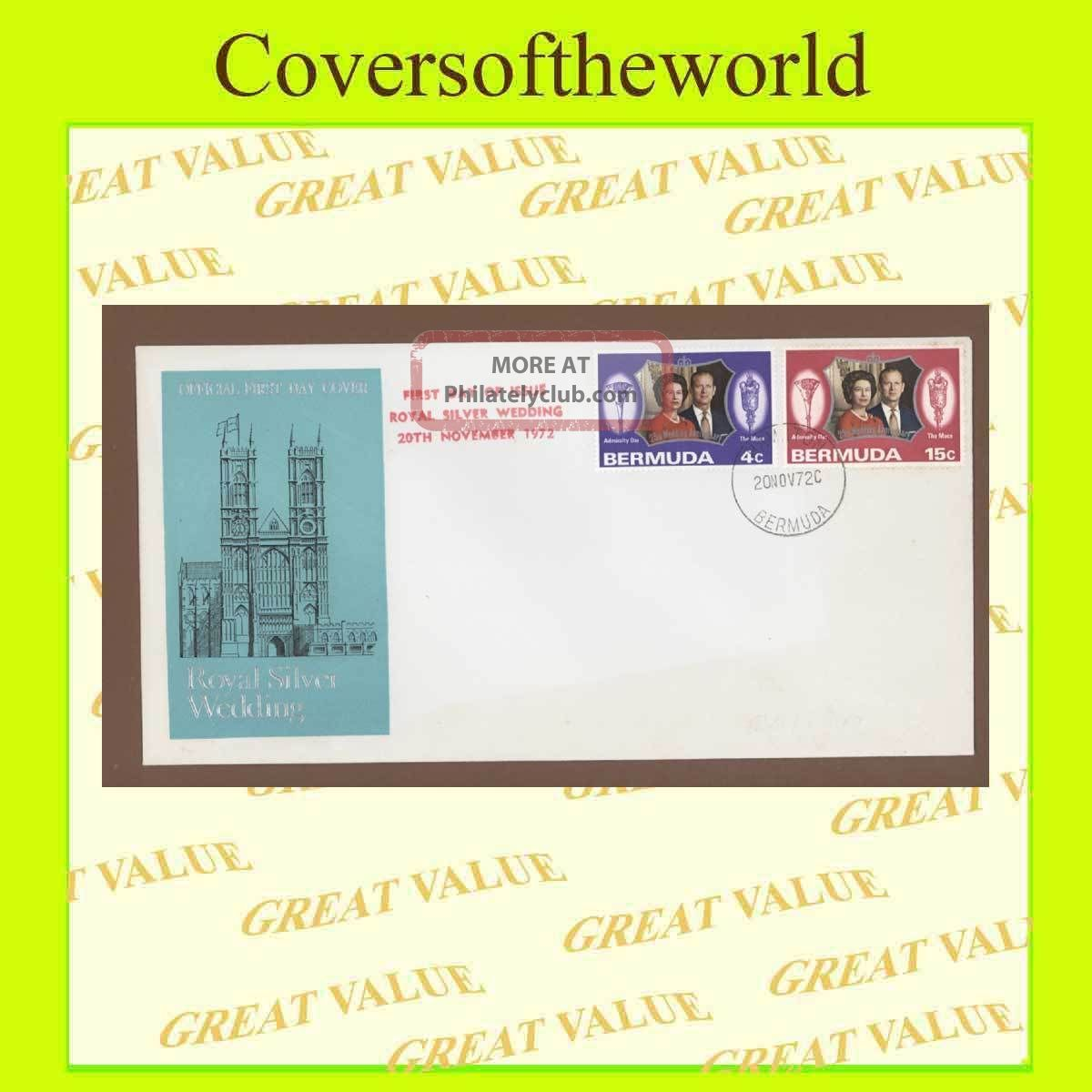 Bermuda 1972 Silver Wedding,  First Day Cover British Colonies & Territories photo