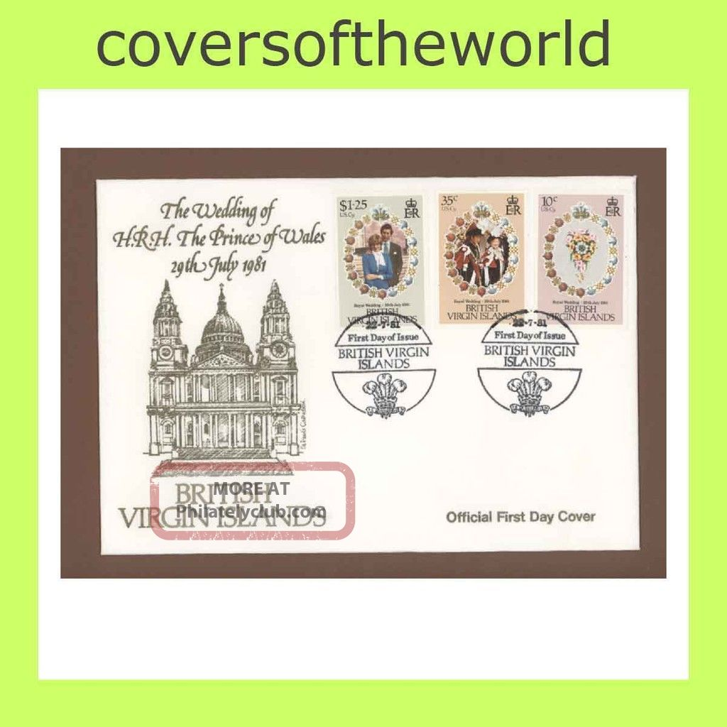 Br Virgin Is.  1981 Royal Wedding First Day Cover British Colonies & Territories photo