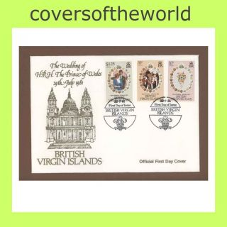 Br Virgin Is.  1981 Royal Wedding First Day Cover photo
