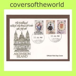 Ascension 1981 Royal Wedding First Day Cover photo