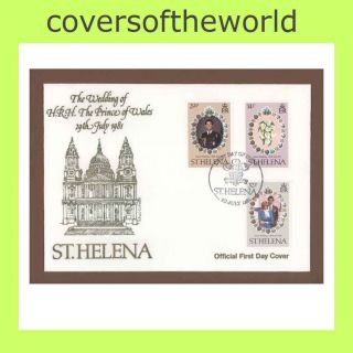 St Helena 1981 Royal Wedding First Day Cover photo