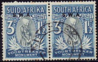 Sw Africa - S Africa In 1935 3d + 1.  1/2d Voortrekker Memorial Fund Sg 95 Us photo