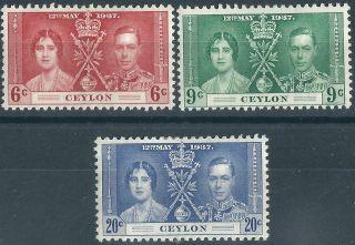 Ceylon.  1937.  Mm.  Omnibus Issue (2775) photo