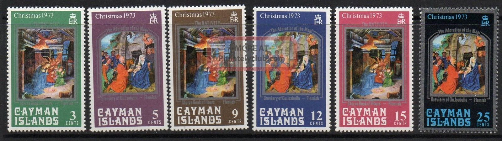 Cayman Islands Sg329/34 1973 Christmas British Colonies & Territories photo