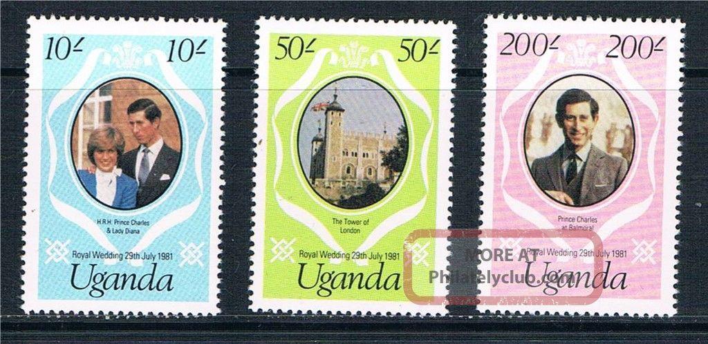 Uganda 1981 Royal Wedding P14 Sg345/7 British Colonies & Territories photo