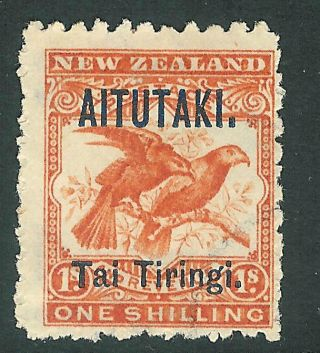 Cook Islands Aitutaki 1903 Orange - Red 1/ - Sg7b No Gum photo