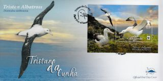 Tristan Da Cunha 2013 Fdc Tristan Albatross 1v Sheet S/s Cover Birds Nature Wwf photo