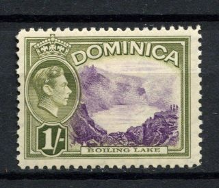 Dominica 1938 - 47 Kgvi Sg 106,  1s Violet And Olive - Green Mh A54020 photo
