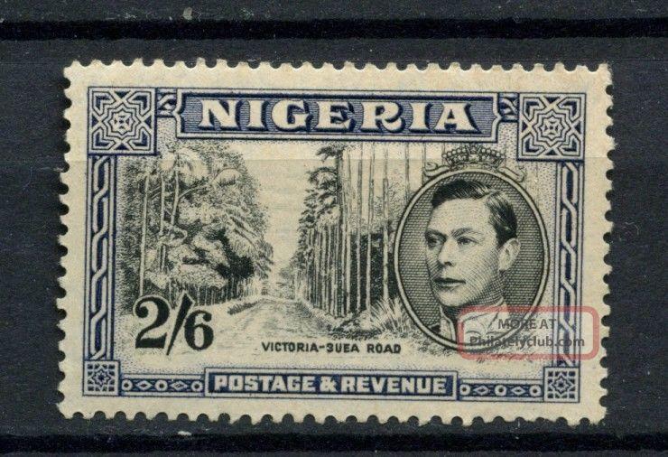 Nigeria 1938 - 51 Kgvi Sg 58ab 2s6d Black And Deep Blue Mh A54160 British Colonies & Territories photo