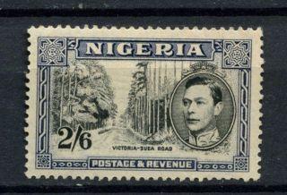 Nigeria 1938 - 51 Kgvi Sg 58ab 2s6d Black And Deep Blue Mh A54160 photo