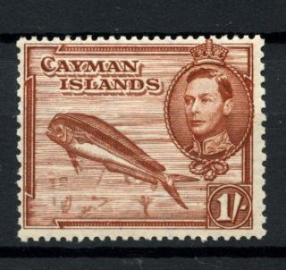 Cayman Islands 1938 - 48 Kgvi Sg 123,  1s Red - Brown P13x11.  5 Mh A53831 photo