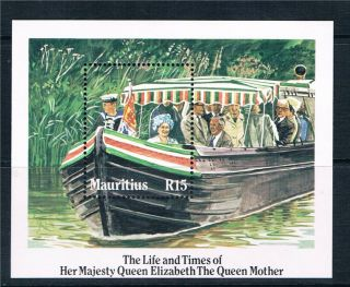 Mauritius 1985 Life & Times Of Queen Mother Sg Ms 703 photo
