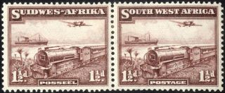 South West Africa - Sg 96 - 1 1/2d.  Purple - Brown - 1937 - Mm/mh photo