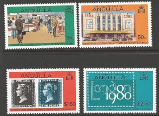 Anguilla Sg384/7 1980 Stamp Exhibition photo