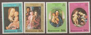 Montserrat Sg318/21 1973 Christmas photo