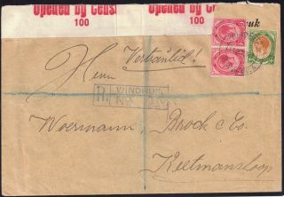 Swa - S Africa In 1913 1d X 2,  4d Sg 4b,  10 On Envelope Windhuk 1917 photo