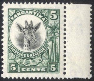 Tanganyika - Sg 89 - 5c.  Green - 1925 - Umm/mnh photo