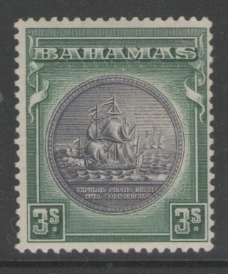 Bahamas Sg132 1931 3/= Slate - Purple & Myrtle - Green Mtd photo