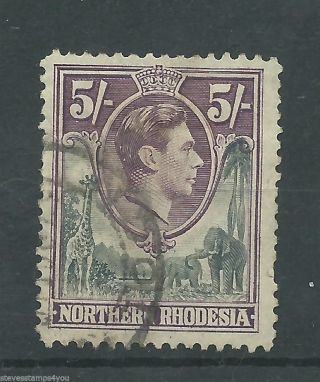 Northern Rhodesia - 1938 To 1952 - Sg43 - Cv £ 16.  00 - photo