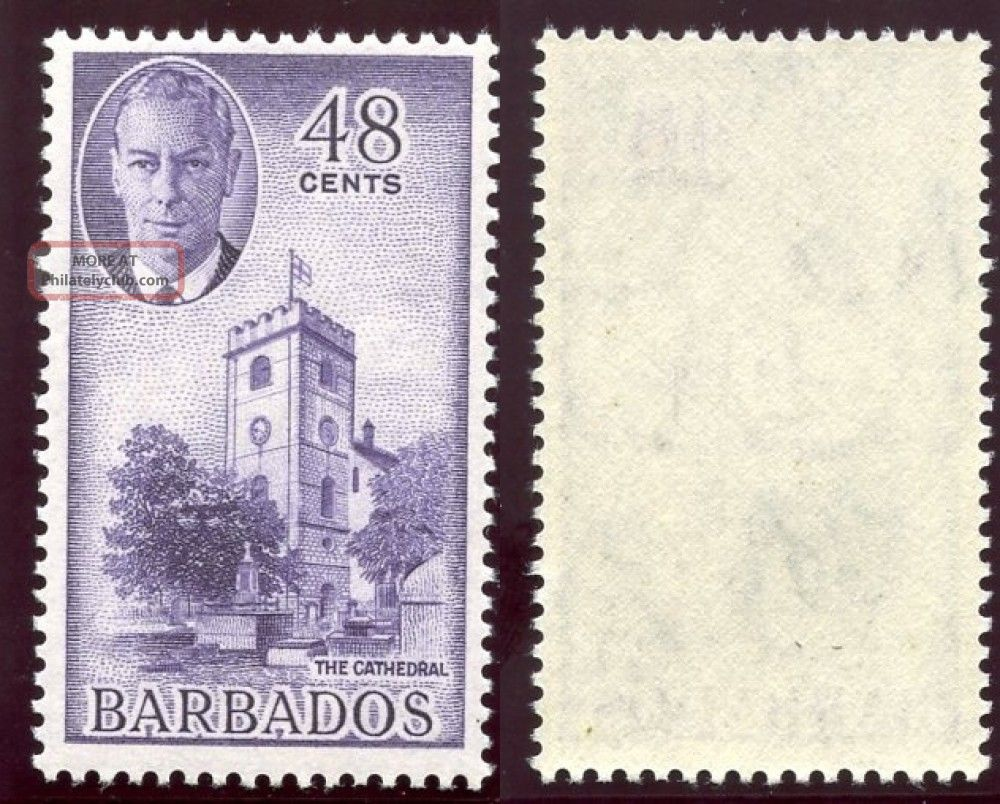 Barbados 1950 Kgvi 48c Violet.  Sg 279.  Sc 224. British Colonies & Territories photo