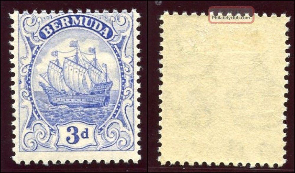 Bermuda 1922 Kgv 3d Ultramarine.  Sg 83.  Sc 88. British Colonies & Territories photo
