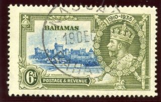 Bahamas 1935 Kgv Silver Jubilee 6d.  Sg 143.  Sc 94. photo