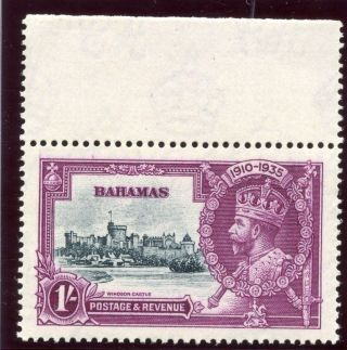 Bahamas 1935 Kgv Silver Jubilee 1s Slate & Purple.  Sg 144.  Sc 95. photo