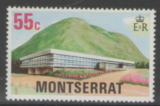 Montserrat Sg406w 1977 55c Development Wmk Crown To Right Of Ca photo