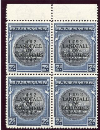 Bahamas 1942 Kgvi 2s Slate - Purple & Indigo Block.  Sg 172.  Sc 126a. photo