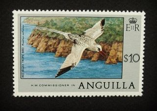 Anguilla Qeii $10 Stamp C1977 Red - Billed Tropic Bird,  Unmounted A860 photo