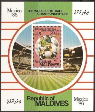 Maldive Islands Sgms1178 World Cup Football Sheet photo