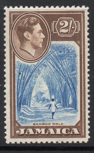 Jamaica Sg131 1938 2/= Blue & Chocolate Mtd photo