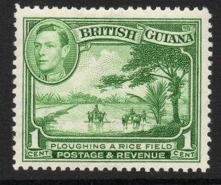 British Guiana Sg308 1938 1c Yellow - Green Mtd photo