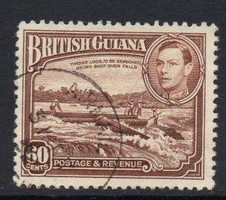 British Guiana Sg315 1938 60c Red - Brown Fine photo