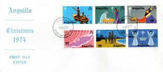 Anguilla 11 December 1974 Christmas Unaddressed First Day Cover Fdi photo