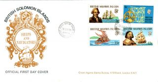 British Solomon Islands 1971 Ships & Navigation Illustrated First Day Cover photo