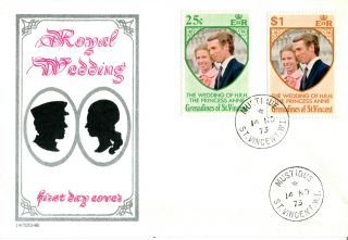 St Vincent Grenadines 14 November 1973 Royal Wedding First Day Cover photo