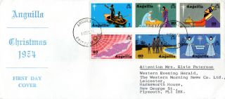 Anguilla 11 December 1974 Christmas Official First Day Cover Fdi (t) photo