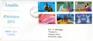 Anguilla 11 December 1974 Christmas Official First Day Cover Fdi photo