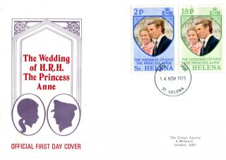 St Helena 1973 Royal Wedding First Day Cover photo