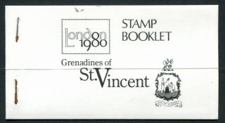 St Vincent Grenadines 1980 London 1980 $15.  60 Booklet photo