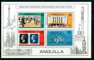 Anguilla 1980 London 1980 Souvenir Sheet 1st Printing photo