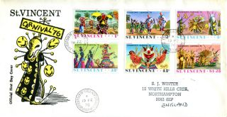 St Vincent 19 February 1976 Carnival ' 76 First Day Cover photo