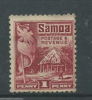 Samoa - 1921 - Sg154 - P14.  00 X P13.  50 - Cv £ 5.  00 - Mounted photo