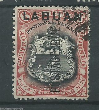 Labuan - 1901 - Sgd5 - P13.  75 - Cv £ 1.  50 - photo