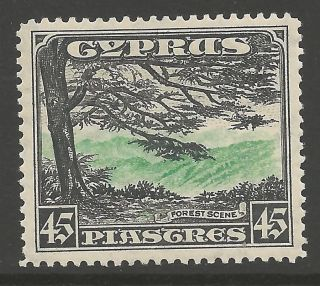 Cyprus Sg143 1934 45pi Green & Black Mtd photo