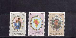 Mauritius 1981 Royal Wedding Scott 520 - 22 photo