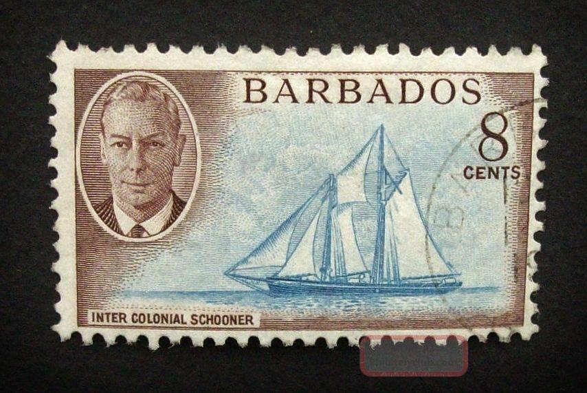 Barbados Kgvi 8c Stamp C1950 Inter Colonial Schooner A886 British Colonies & Territories photo