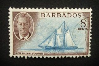 Barbados Kgvi 8c Stamp C1950 Inter Colonial Schooner A886 photo