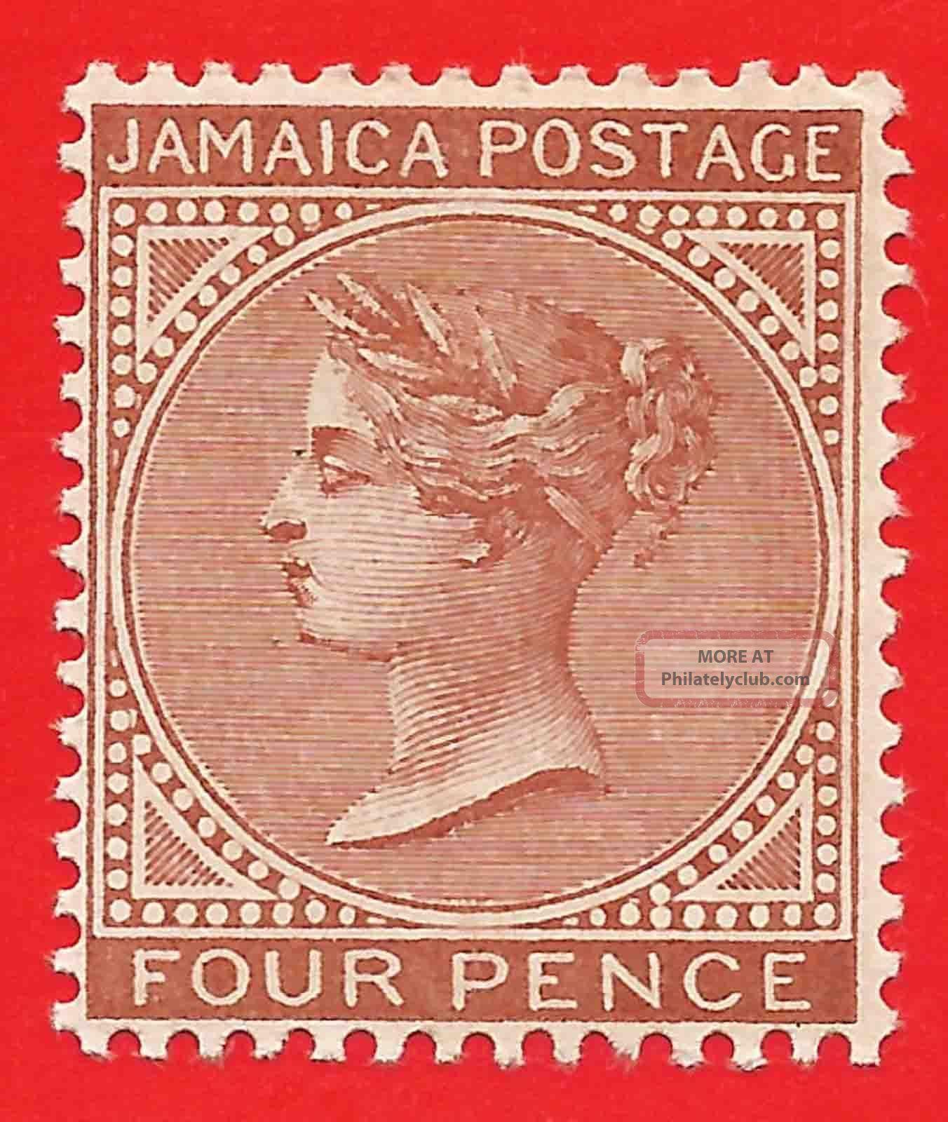 4d Red - Brown Stamp 1908 Jamaica Queen Victoria Sg48 British Colonies & Territories photo